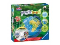 RAVENSBURGER 12327 MAPPAMONDO 180PZ + CDROM PUZZLE BAMBINI LAMPADA 3D PUZZLE