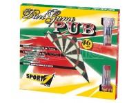 Bersaglio pub diametro cm 46 con 6 freccette deluxe in scatola sport 1
