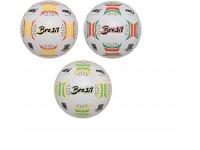 Pallone da calcio in gomma regolamentare Brasil 3 colori assortiti