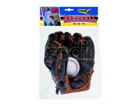 set baseball guanto e palla in poliuretano 3 colori assortiti