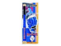 Set baseball strike 3 mazza in legno 60cm guanto e palla 3 colori assortiti