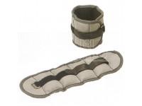 Coppia polsiere cavigliere a fascia 2,5 kg colore nero Schiavi sport
