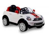Auto elettrica mini cooper coupe' bianca bcs